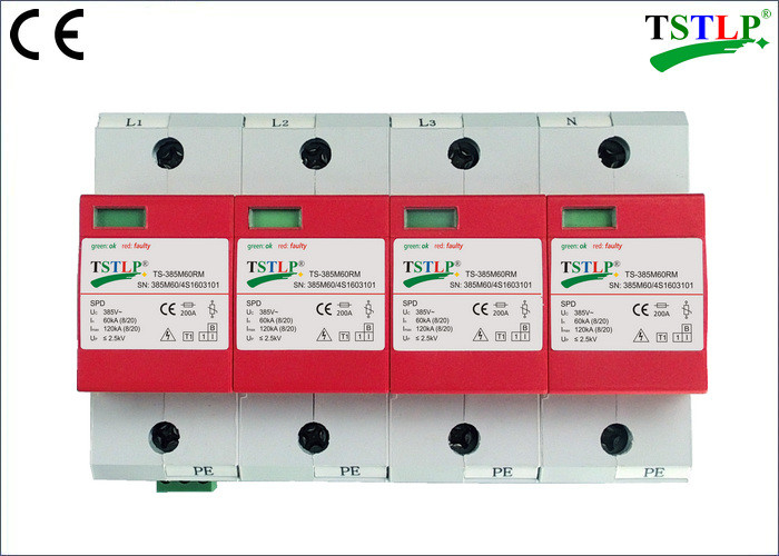 275V / 385V 60kA - 120kA Type 1 Lightning Surge Protector For Electrical Panel