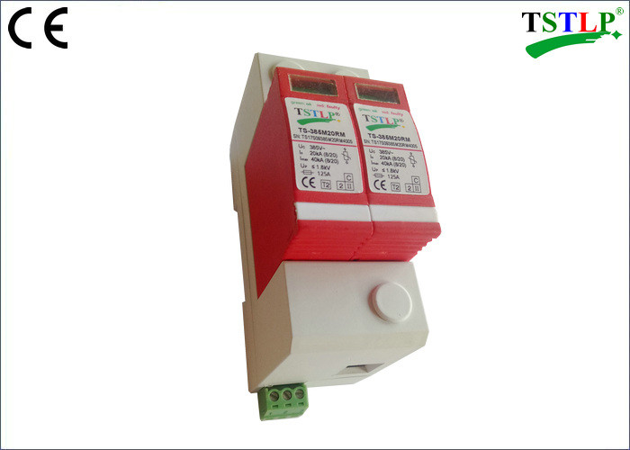 75v - 440v Single Phase Surge Arrester , 20kA Class 2 Voltage Surge Arrester