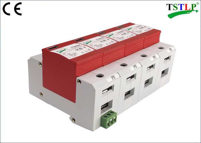 CE Certified 3 Phase Surge Suppressor ,  30kA Mov Ac Surge Suppressor With Din Rail Mounted